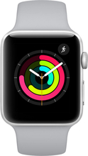 Apple Watch Series 3 - 42mm Silber Aluminiumgehäuse mit Nebel Sport mit 3D Gebogene Prämie Gehärtetes Glas Bildschirmschutz (Voller Klebstoff) - MQL02