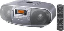 Bærbar radio -RX-D50 - boombox - CD - AM/FM - Stereo - Sølv