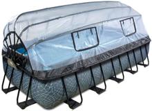EXIT Stone pool 540x250x100cm med filterpumpe - grå m/dome