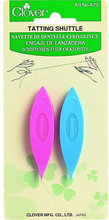 Clover Frivolitetsskyttel nål Ass. färger 6,5 cm - 2 st.