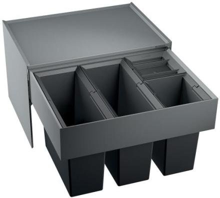 Blanco Select 60/4 Avfallssystem, 4 bøtter, Montering i skap med uttrekk