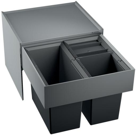 Blanco Select 50/3 Avfallssystem, 3 bøtter, Monteres i skap med uttrekk