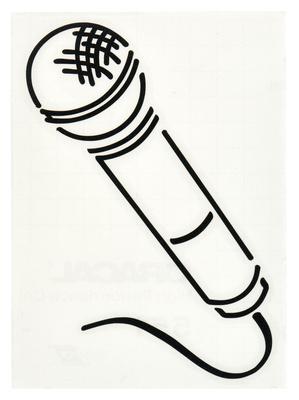 Design-Studio Worms Sticker Microphone Anthracite