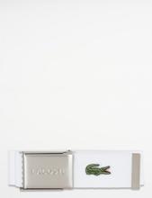 Lacoste, LEATHER GOODS BELT, Hvit, Belter för Gutt, 90 cm