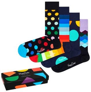 Happy socks Strømper 4P Classic Multi Color Socks Gift Box Flerfarvet bomuld Str 41/46