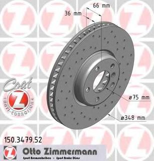 Bremseskive ZIMMERMANN 150.3479.52