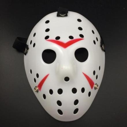 Fredag den 13 hockeymaske - Rød/Hvit