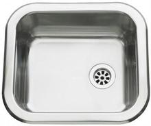 Intra Barents BA3013 Kjøkkenvask 36x32 cm, m/propp og kjetting, Rustfritt stål