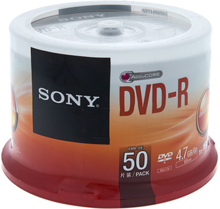 Sony DMR47 DVD-R Spindle of 50pcs
