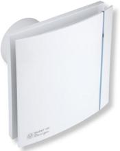 S&P Silent 100 Design CHRZ Baderomsvifte m/timer + hygrostat 188x188mm Ø99mm, Hvit