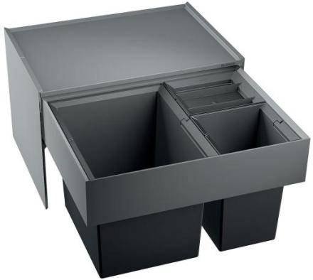 Blanco Select XL 60/3 Avfallssystem, 3 spann, Montering i skap med uttrekk