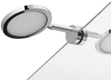 HeFe Majorca LED Speillampe t/Speilkant, Krom