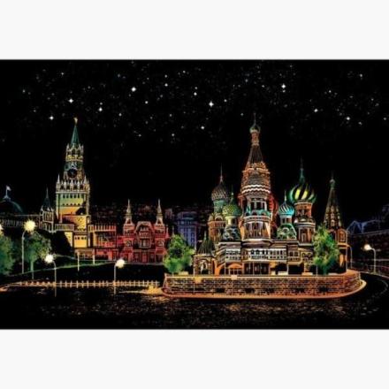 Scratch map night view - Russland