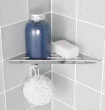 Dansani Showercorner, Blank Rustfritt Stål