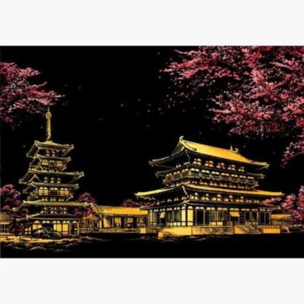 Scratch map night view - Japan