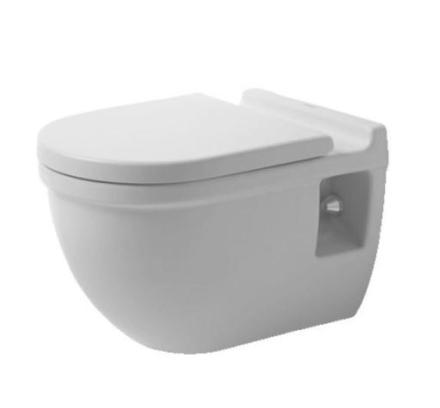 Duravit Starck 3 Comfort vegghengt toalett m/wondergliss, hvit