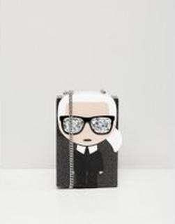 Karl Lagerfeld iconic karl minaudiere box bag - Black