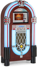 "Graceland Touch jukebox 12"" touch-panel WLAN, CD, BT, träoptik"