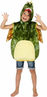 Rund och go dinosauriedräkt för barn till maskeraden 110 - 116 cm (5 - 6 år)
