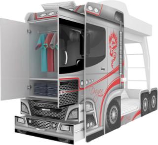 Mega Truck køyeseng for barn inkludert madrasser!