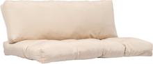 vidaXL Dynor till pallsoffa 2 st beige polyester