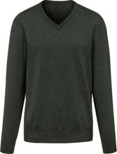 V-ringad tröja i 100% kashmir i Premium-kvalitet m från Peter Hahn Cashmere grön