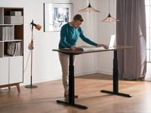 Skrivebord 180x80 cm Elektrisk Justerbar Brun/Sort Uplift