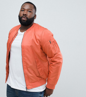 Brave Soul PLUS Ma1 Bomber Jacket-Orange