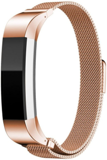 Fitbit Alta klokkereim av rustfritt stål m. magnet - Rødgull