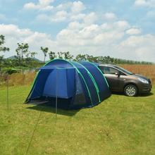 vidaXL Campingtält 390x330x195 cm blå