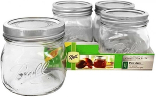 Mason jar wide mouth pint elite
