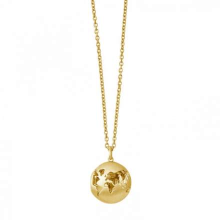 Beautiful World locket - gold fra ByBiehl