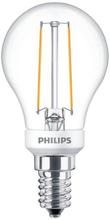 Philips Filament Klot LED 2,7W/827 (25W) E14 dimbar - Klar