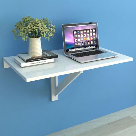 vidaXL Sammenleggbart Veggbord Hvit 100x60 cm