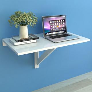 vidaXL væghængt klapbord hvid 100 x 60 cm