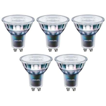 Philips Master ExpertColor LED PAR16 5,5W/927 (50W) 36° GU10 kan dempes - Pakke á 5 stk.