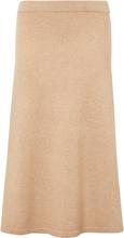 Stickad kjol från include beige