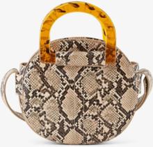 PIECES Snakeskin Crossbody Bag Kvinna Brun