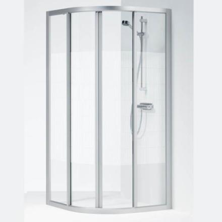 Ifö Solid dusjhjørne SVR 90X90x195 cm, Screentrykt Glass / Alu Profil