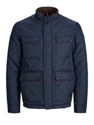 JACK & JONES High Neck Jacket Men Blue