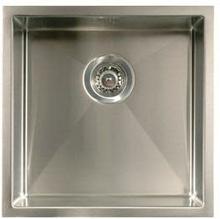 Intra Quadra 400 Kjøkkenvask 44,6x44,6 cm, m/Kurvventil, Rustfritt stål