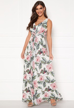 Chiara Forthi Ember Gown White / Pink / Floral 34