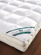 Baumwoll-Spannauflage Wash Cotton ca. 90x200cm FAN weiss