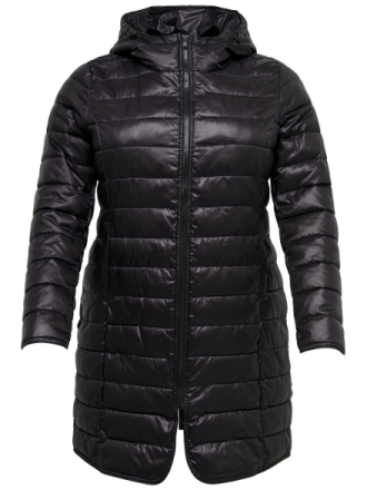 ONLY Curvy Long Quilted Jacket Women Black