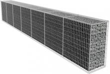 Gabionvegg med dekke 600x50x100 cm