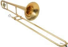 Trombone Gul Messing med Gullakk Bb