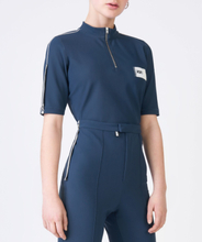 RBN HALF ZIP POLO SENSITIVE Midnight Blue, 36