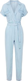 NOISY MAY Short Sleeved Jumpsuit Women Blue