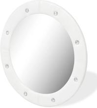 vidaXL Väggspegel konstläder 60 cm blank vit