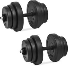 vidaXL Hantelset 18 delar 40 kg